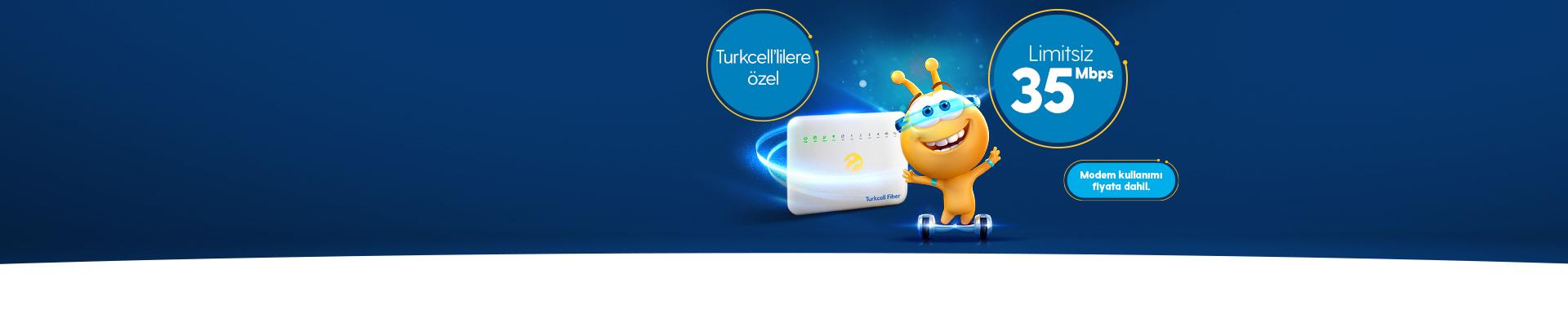 Turkcell Fiber İlk 3 Ay Bizden