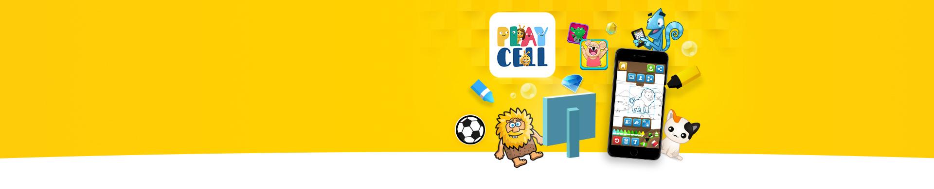 Playcell'in Eğlence Dünyası En yeni en eğlenceli yüzlerce oyun seni bekliyor! Boyama Zamanı, Adem ile Havva, Sudoku, Penaltı Atışları  ve daha fazlası Playcell'de!