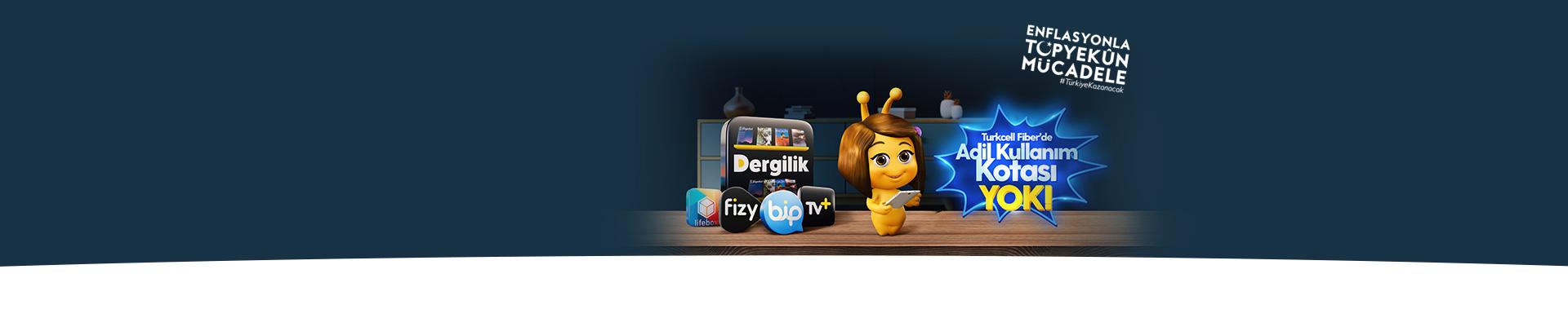 Turkcell Fiber'de Adil Kullanım Kotası Yok