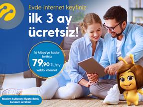 3 Ay Ücretsiz Turkcell Kablo İnternet Kampanyası